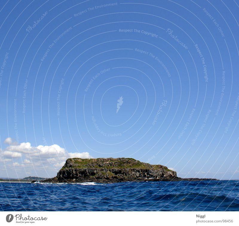 Cook Island Wasser Himmel Meer blau Ferien & Urlaub & Reisen Wolken Einsamkeit Ferne Wellen Insel tauchen Australien Pazifik Schnorcheln Meerwasser Queensland