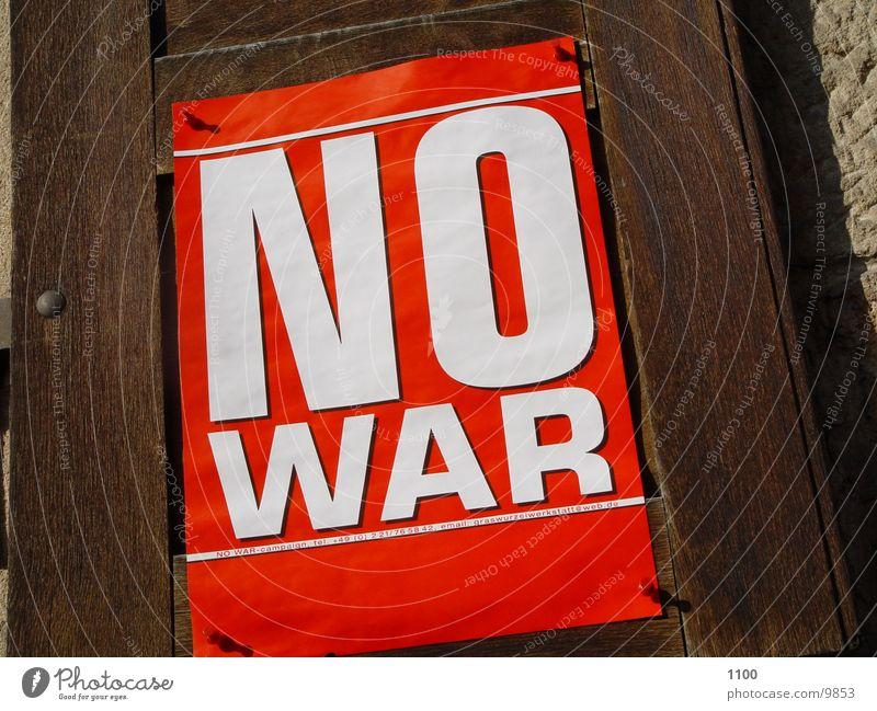 no war Dinge Plakat