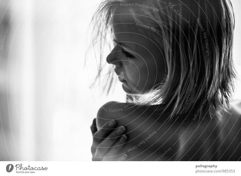... Mensch Frau Jugendliche schön Junge Frau Erholung ruhig Erotik 18-30 Jahre Erwachsene Gesicht Leben Gefühle feminin Haare & Frisuren Stimmung