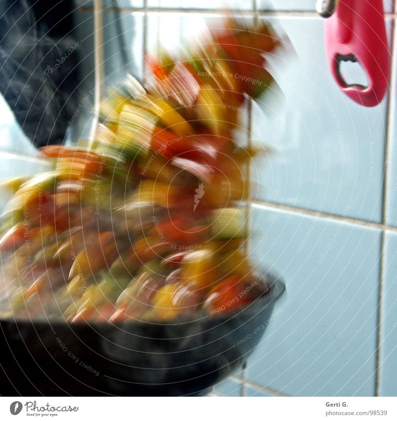 friß oder stirb blau schwarz Ernährung Wärme Lebensmittel Kunst Mund Küche Kochen & Garen & Backen Kultur Physik heiß Gastronomie Fliesen u. Kacheln Gemüse drehen
