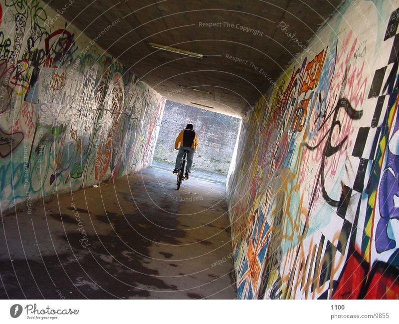 radfahrer Mensch Fahrrad Tunnel