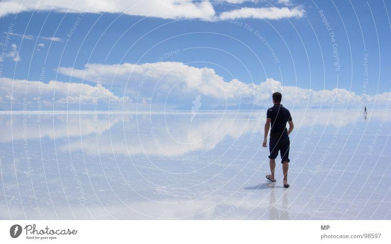 Skywalker II Himmel Natur Wasser blau Freude Ferien & Urlaub & Reisen Wolken Einsamkeit Erholung springen Glück See fliegen Beginn Abenteuer Hoffnung