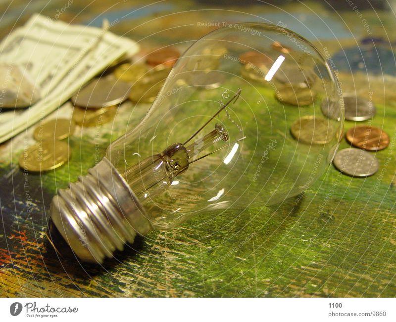 birne+cash Glühbirne Geld Geldmünzen Elektrisches Gerät Technik & Technologie