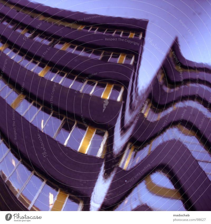IT'S NOT A TRICK Himmel Haus Architektur Fassade modern Hochhaus obskur Niederlande Verzerrung Fensterfront Kubismus Utrecht