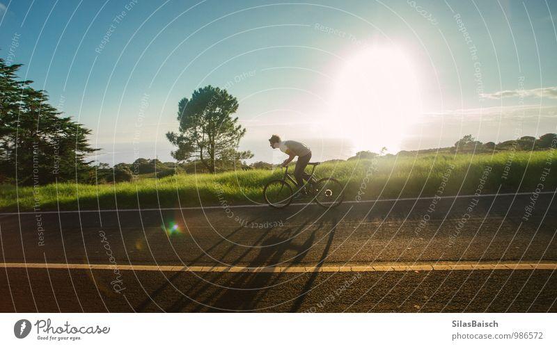 Fahrradtour 03 Natur Jugendliche Sommer Sonne Landschaft Freude Junger Mann 18-30 Jahre Erwachsene Berge u. Gebirge Sport Stil Gesundheit Lifestyle maskulin