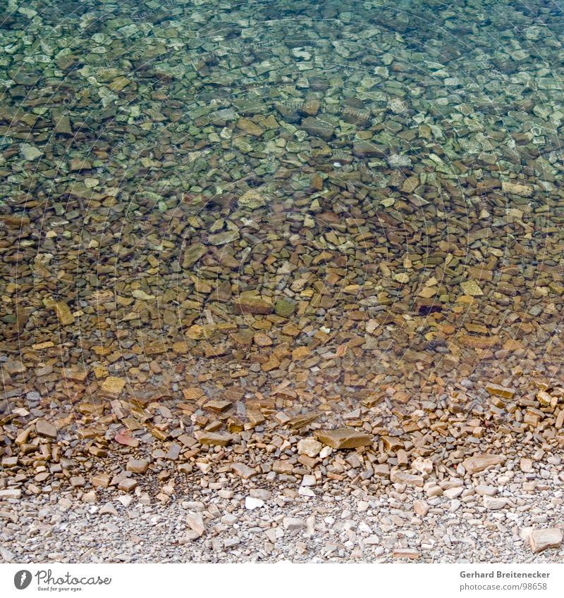 seichtes Quadrat Wasser Meer Strand Stein Klarheit Kies Verlauf banal