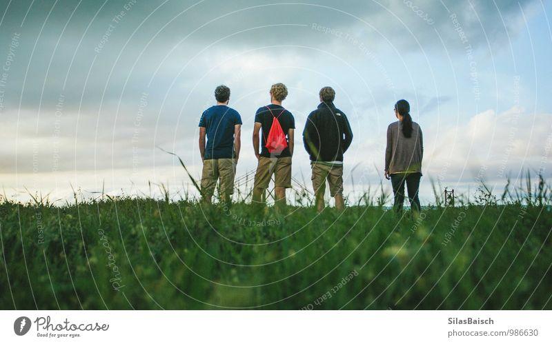 Mensch Frau Natur Ferien & Urlaub & Reisen Jugendliche Mann Sommer Junge Frau Meer Junger Mann 18-30 Jahre Erwachsene Berge u. Gebirge Sport Freiheit