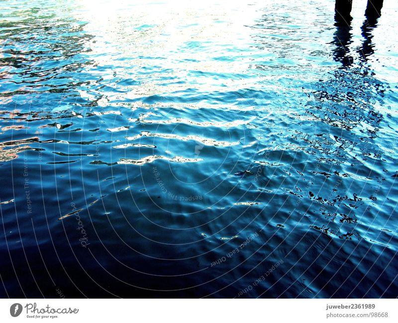 Die Spiegelung schön kalt Venedig Sommer Italien Meer Wasser blau Natur Erfrischung