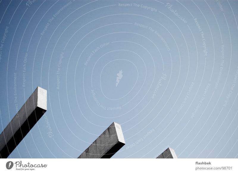 III Himmel blau 2 Architektur Beton 3 modern Dach Block Potsdam minimalistisch BuGa-Park