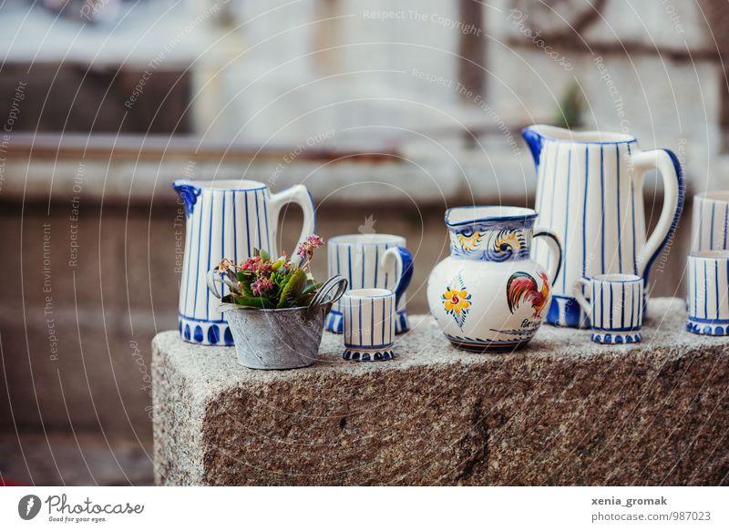 Keramik in Porto Geschirr Tasse Becher Lifestyle Ferien & Urlaub & Reisen Tourismus Ausflug Altstadt Schalen & Schüsseln Gießkanne Dekoration & Verzierung