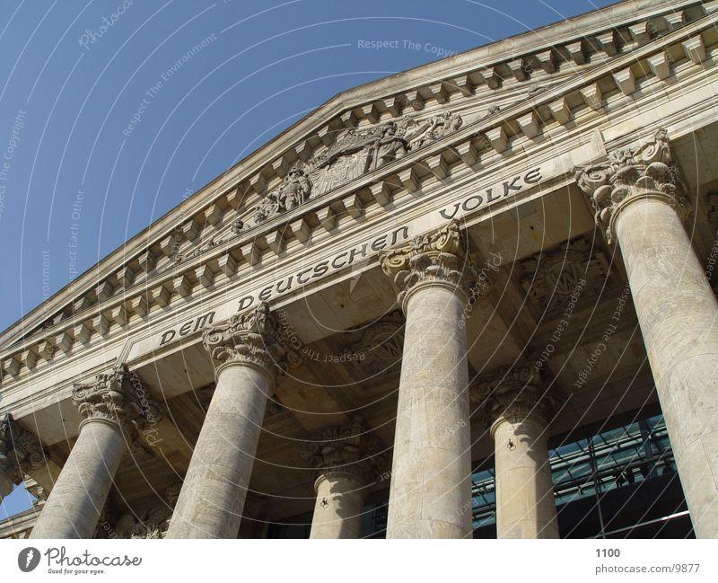 Reichstag Dem deutschen Volke Architektur Deutscher Bundestag