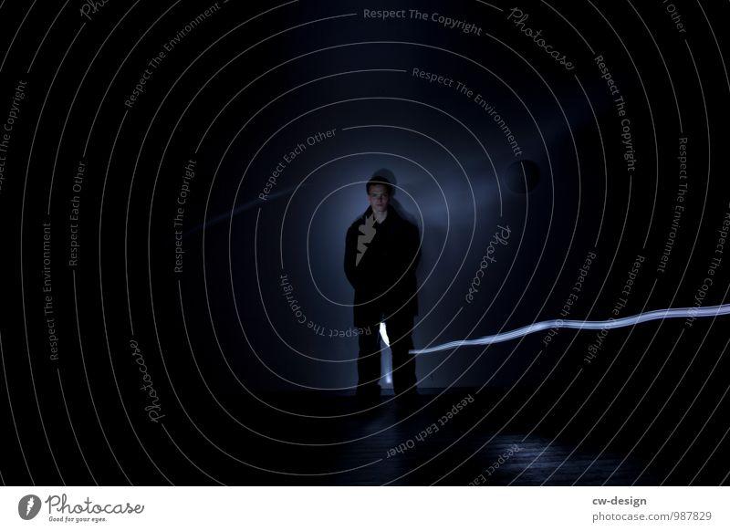 Nachtschwärmer Lifestyle Stil Freude Zufriedenheit Erholung ruhig Meditation Mensch maskulin Junger Mann Jugendliche Erwachsene Leben 1 18-30 Jahre Kunst stehen