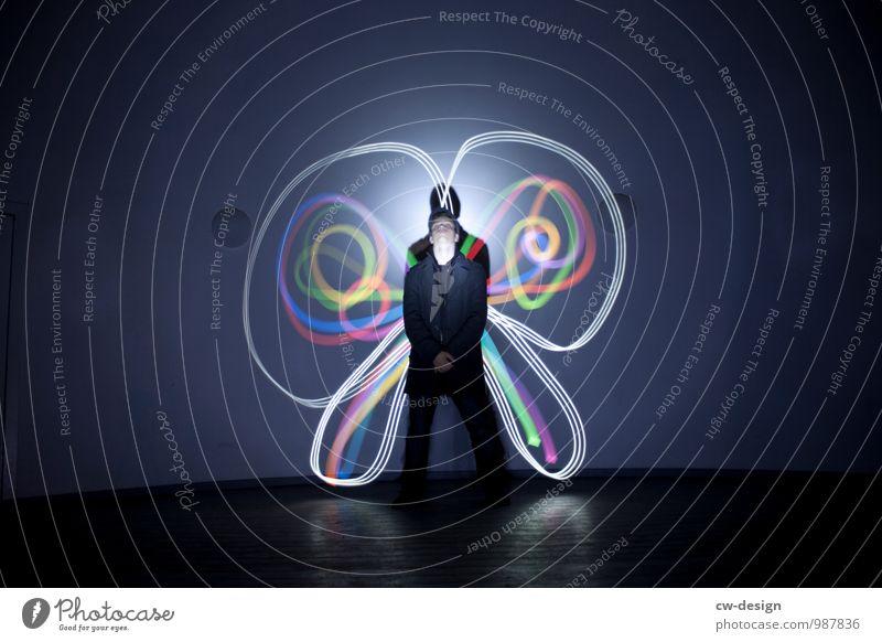 Schmetterlingskönig elegant Stil Freude Freizeit & Hobby Mensch maskulin Junger Mann Jugendliche Leben 1 13-18 Jahre Kind stehen warten außergewöhnlich Coolness