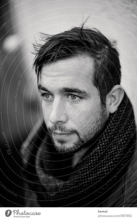 außergewöhnlich | ansehnlich Mensch Jugendliche schön ruhig Junger Mann 18-30 Jahre Erwachsene Leben Traurigkeit Gefühle Stil Haare & Frisuren Kopf Lifestyle maskulin Coolness
