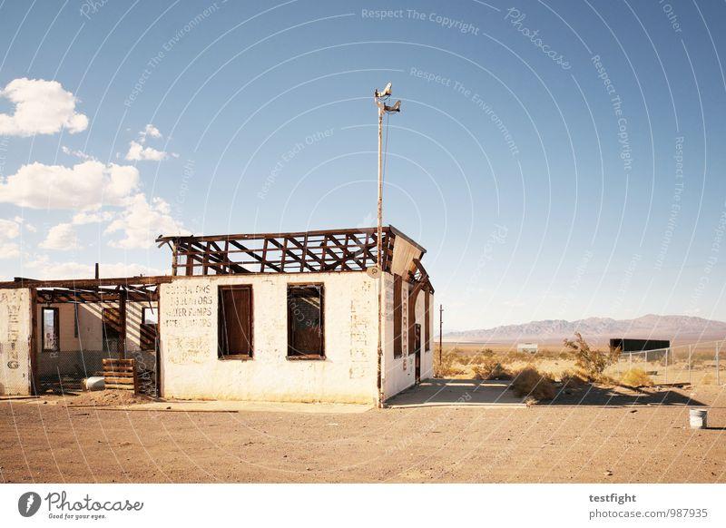 abandoned homes Dorf Menschenleer Bauwerk Gebäude Architektur Mauer Wand Fenster Einsamkeit Verfall Vergänglichkeit alt Zerstörung Natur Landschaft USA Route 66