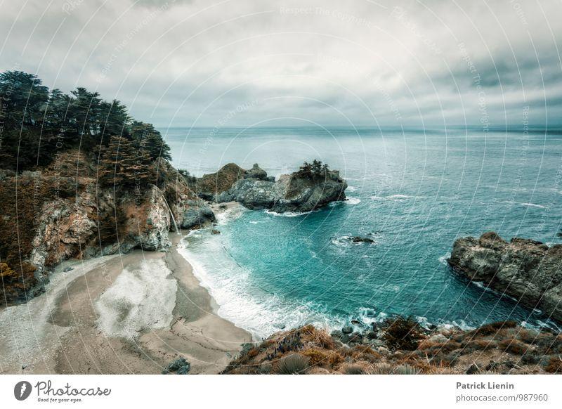 Big Sur Himmel Natur Pflanze Wasser Baum Erholung Meer Landschaft ruhig Wolken Strand Umwelt Leben Küste Luft Erde