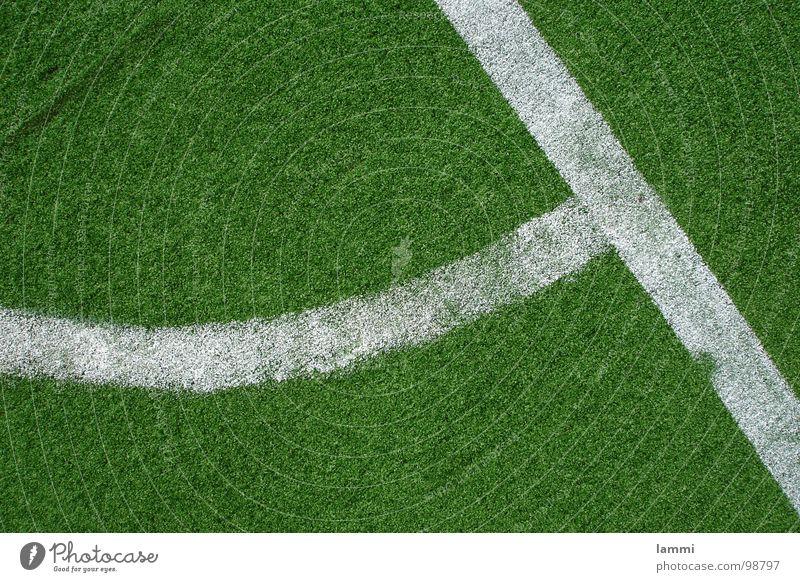 das grüne Eck weiß Fuß Fußball Kunst Ecke Ball Rasen Kunststoff Pulver Ballsport Kunstrasen