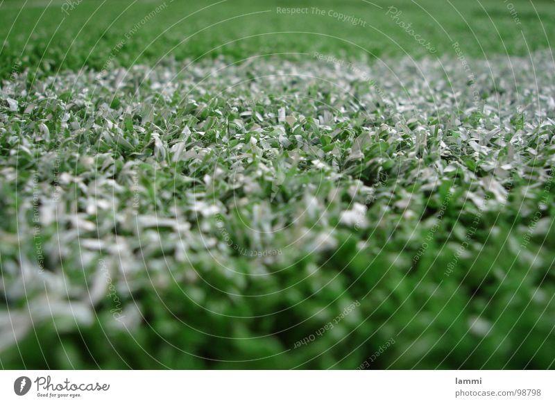 Kunstrasen weiß grün Fuß Fußball Ecke Ball Rasen Kunststoff Pulver Ballsport