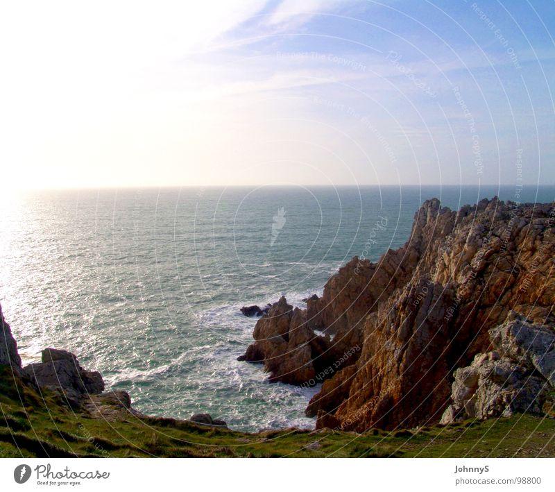 westend 2 Meer Strand Wellen Küste Felsen Frankreich Bucht Brandung Klippe Bretagne