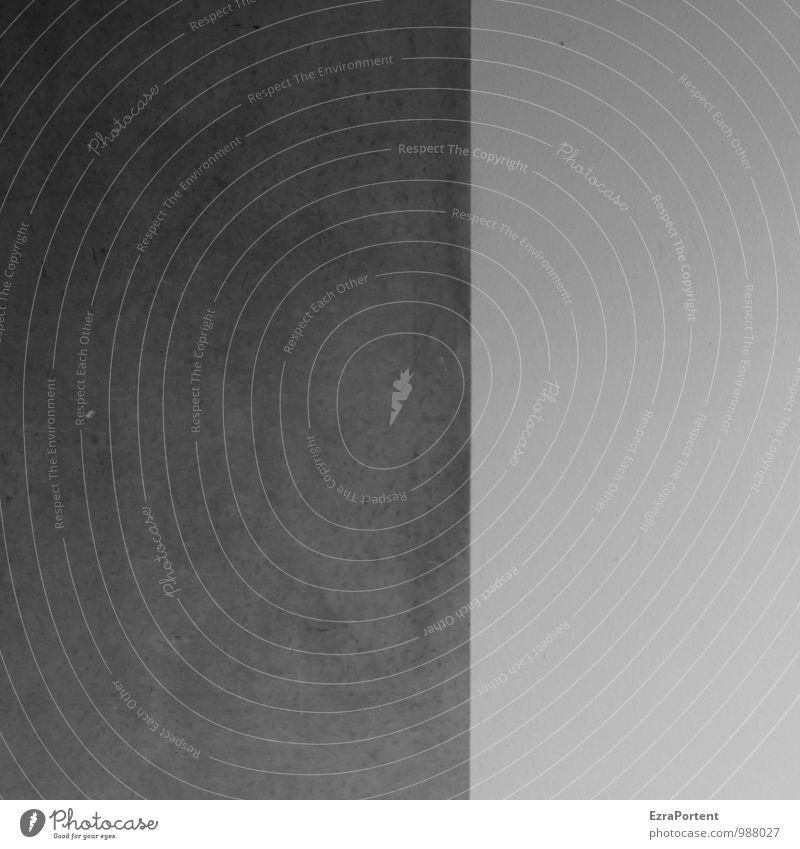Frohes Fest! (S/W) weiß Haus schwarz dunkel Wand Gebäude Stil Mauer Stein Linie Fassade trist Design ästhetisch Beton Grafik u. Illustration