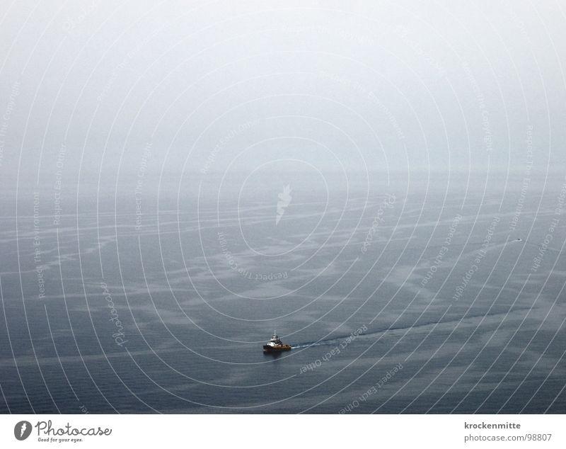 M   e   e   r Wasser Meer Ferien & Urlaub & Reisen ruhig Einsamkeit Ferne Wasserfahrzeug Wellen Bootsfahrt nähern