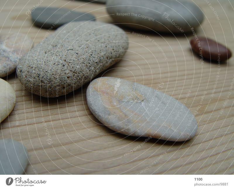 Steine Holz Dinge Fensterbrett