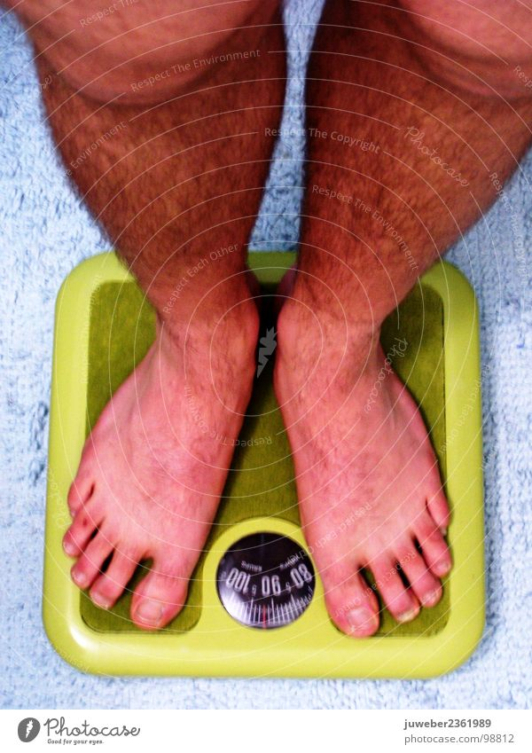 Upsss schwer schön Kilogramm Zehen Süßwaren Mann Bad Wage Gewicht Beine Angst Haare & Frisuren Mensch Barfuß
