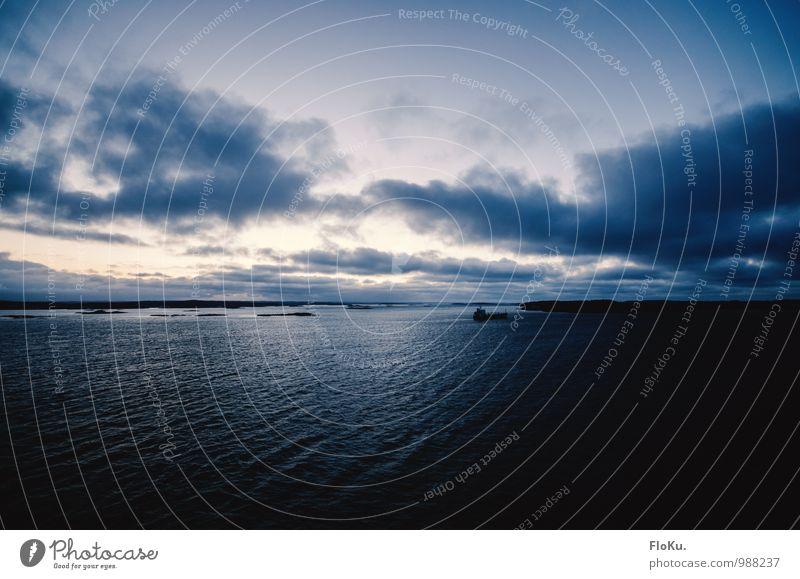 Schären vor Göteborg Himmel Natur Ferien & Urlaub & Reisen Wasser Meer Landschaft Wolken Ferne Umwelt Küste Freiheit Stimmung Horizont Wellen Tourismus Insel