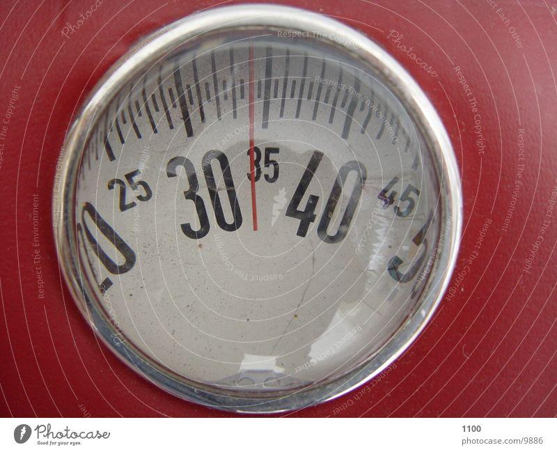 badezimmer waage .-) Waage Körpergewicht rot Magersucht leicht Untergewicht Kilogramm Ziffern & Zahlen Skala Gewicht Anzeige Psychische Störung