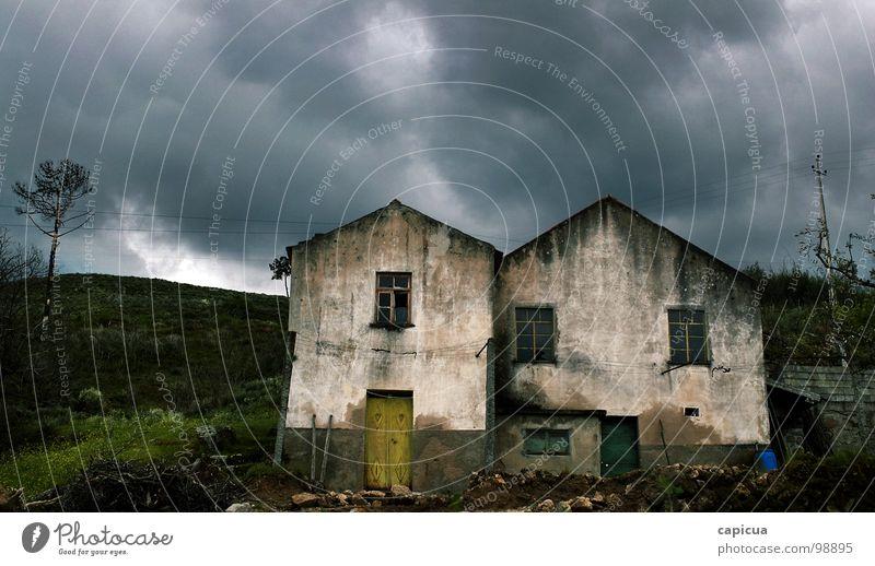 STORMY WEATHER Portugal Rust verfallen Angst Panik darkness storm nightmare clouds old serra da estrela mountain hill