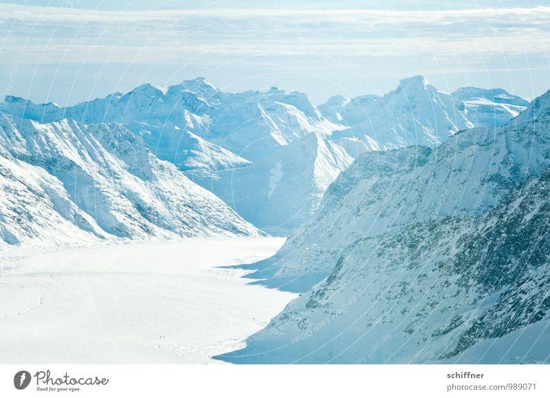 White out Umwelt Natur Landschaft Klima Klimawandel Schönes Wetter Eis Frost Felsen Alpen Berge u. Gebirge Gipfel Schneebedeckte Gipfel Gletscher kalt blau weiß