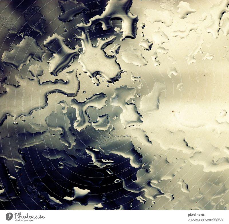 a storm is comming weiß nass Klarheit trüb Nachmittag Wolken Wasser Kontrast hell blau Wetter Glasscheibe Regenwasser Wassertropfen Hintergrundbild