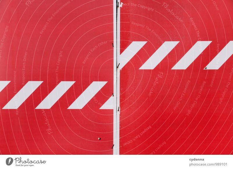 Jetzt nicht! Farbe rot Wand Freiheit Ordnung Schilder & Markierungen Hinweisschild bedrohlich Streifen Zeichen Baustelle planen Schutz Sicherheit geheimnisvoll stoppen