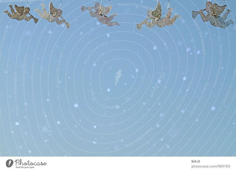 Frohe Weihnachten... Himmel Weihnachten & Advent Winter Schnee Religion & Glaube Feste & Feiern fliegen Lifestyle Eis Häusliches Leben Dekoration & Verzierung