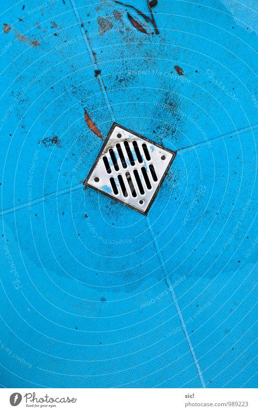 Abfluss blau Wasser Sommer Küste Schwimmen & Baden See glänzend Freizeit & Hobby Sauberkeit Reinigen Wellness Schwimmbad Körperpflege Stahl silber Wassersport