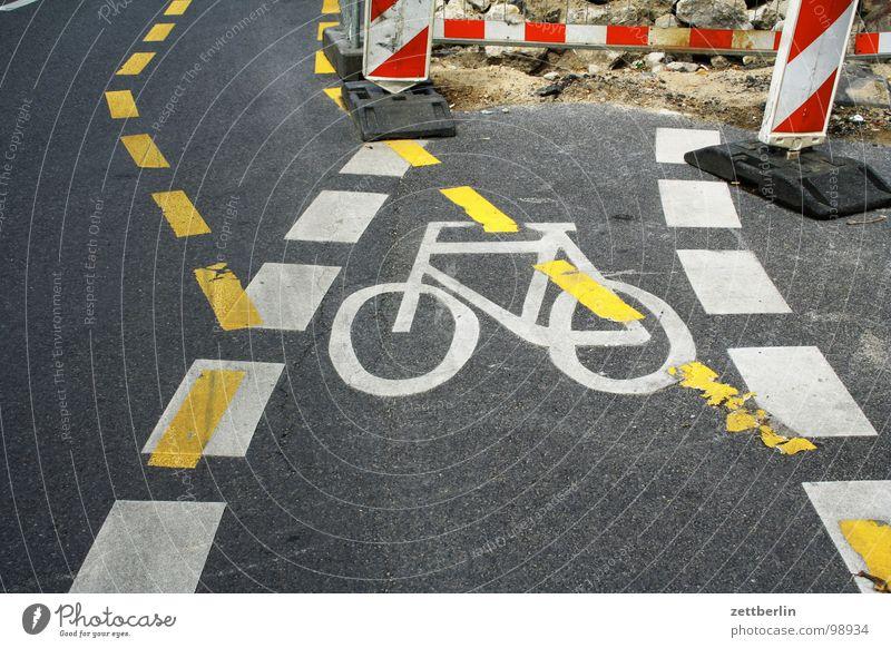 Baustelle Linie Fahrrad Straßenverkehr Schilder & Markierungen Verkehr Güterverkehr & Logistik Freizeit & Hobby Information Verkehrswege Wachsamkeit Unfall