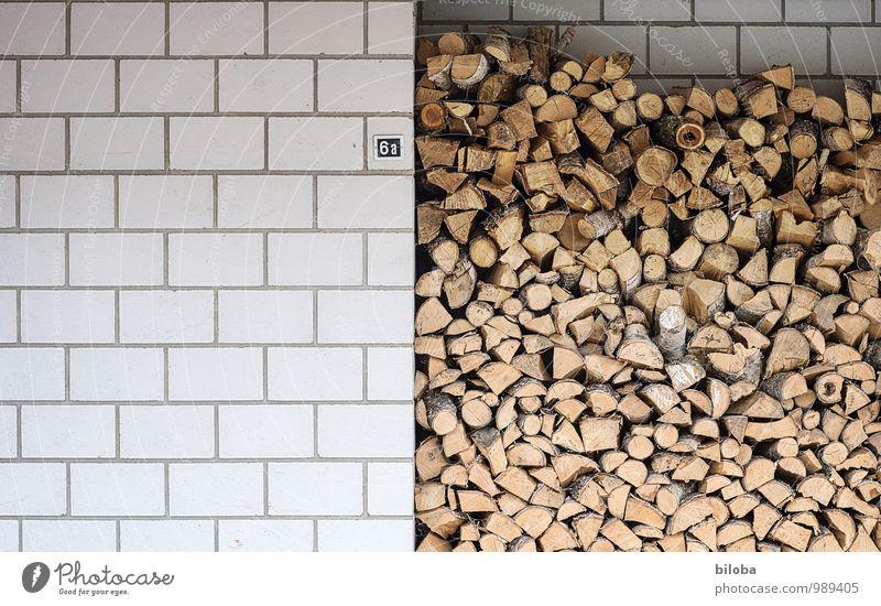 !Trash! ¦ Die Heizperiode hat begonnen Natur Winter Umwelt Wand Mauer Holz Stein Symbole & Metaphern Vorrat Brennholz Brennstoff Hausmauer