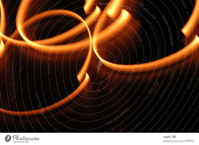 Feuerspiel Langzeitbelichtung Belichtung Spielen Brand Reaktionen u. Effekte Feuerpiel