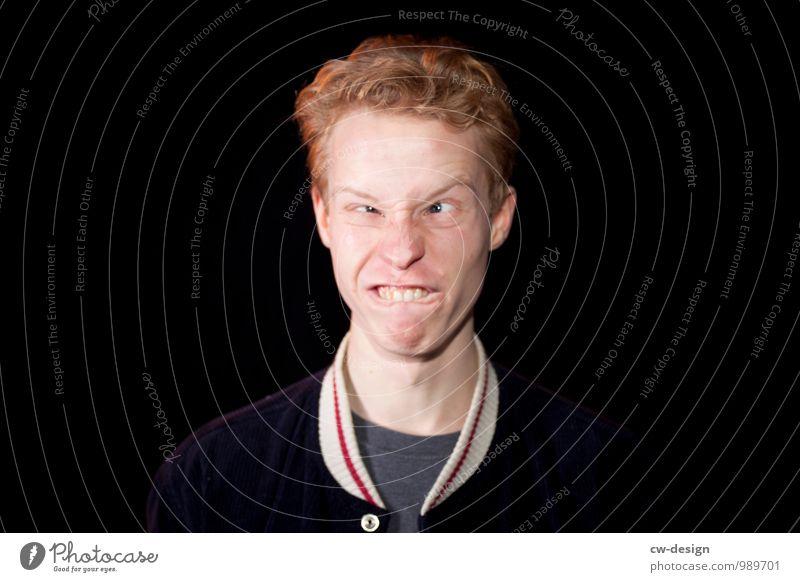 Montagmorgen Mensch Jugendliche Junger Mann Freude 18-30 Jahre Gesicht Erwachsene Leben Lifestyle Party Feste & Feiern Kopf Freizeit & Hobby maskulin verrückt