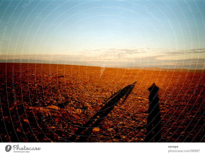Zweisamkeit Sonne Ferien & Urlaub & Reisen Einsamkeit Landschaft Romantik Wüste Fernweh Norwegen Skandinavien Nordkap