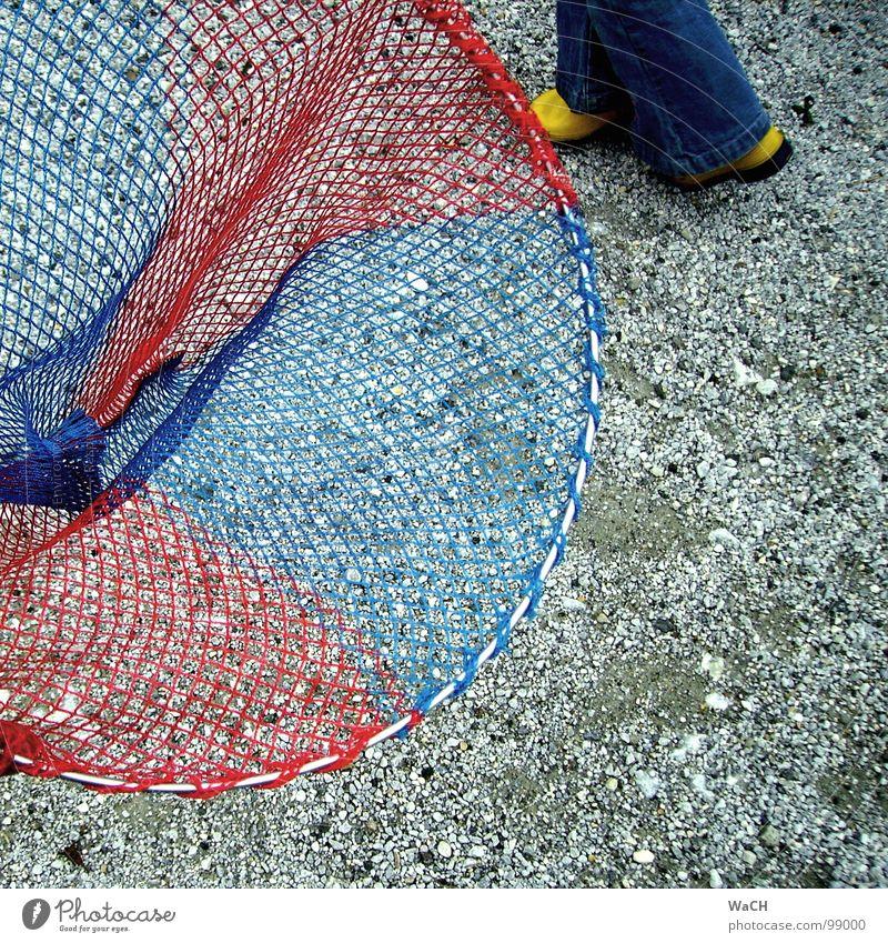 spring rein blau rot gelb Beine Freizeit & Hobby fangen Netz Jagd Sammlung Angeln Fangnetz Kieselsteine Gummistiefel Köcher blau-rot Schmetterlingsnetz