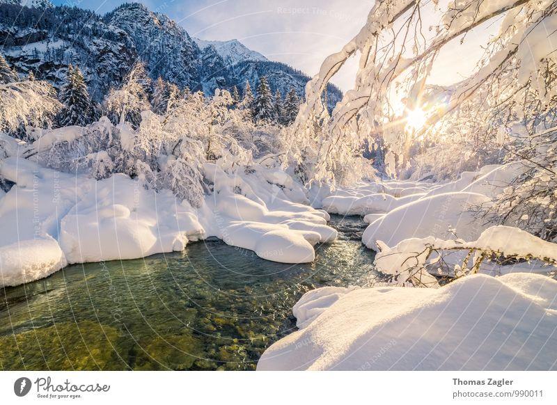 Winter in den italienischen Alpen II Schnee Winterurlaub Berge u. Gebirge wandern Natur Landschaft Wasser Sonnenaufgang Sonnenuntergang Schönes Wetter Baum Bach