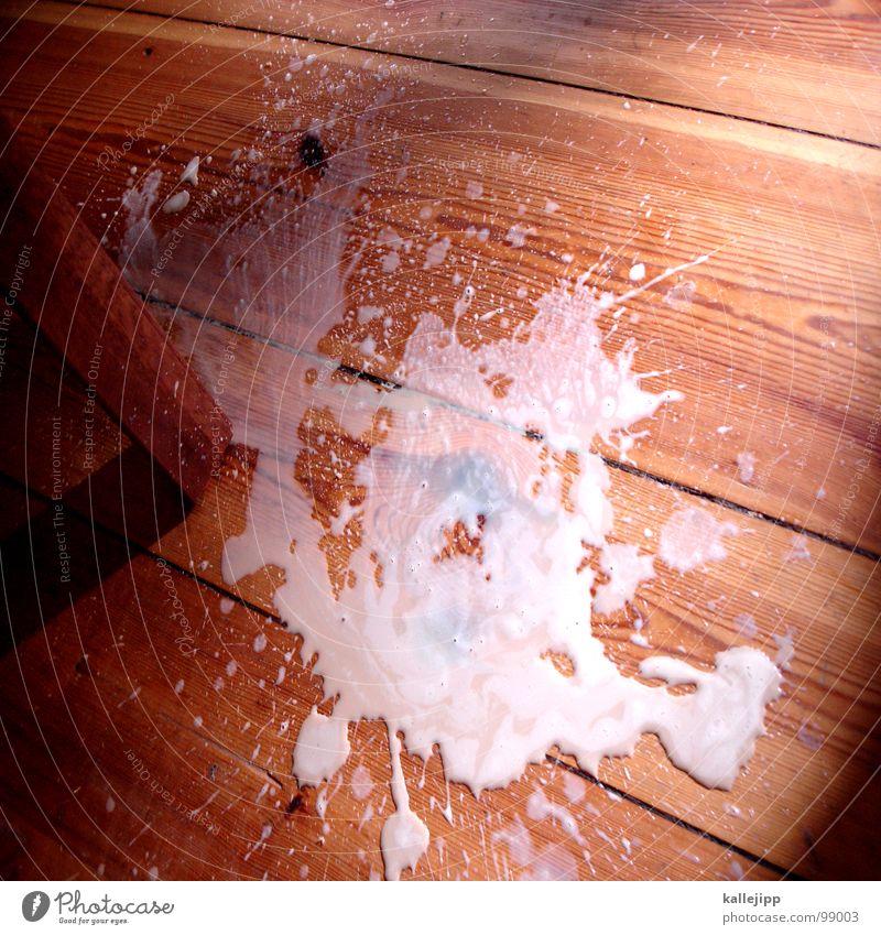 menschliches versagen II weiß Holz Kunst Lebensmittel dreckig Glas Ernährung Zukunft nass Bodenbelag Reinigen fallen Gastronomie Schmerz Holzbrett Flur