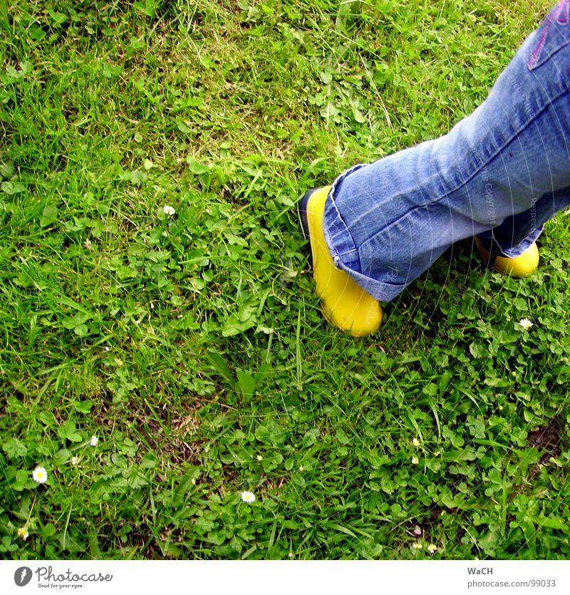 GiG (Gummistiefel im Gras) Kind grün gelb Wiese Regen Feld dreckig Rasen Freizeit & Hobby Gewitter Stiefel Schuhe Kautschuk