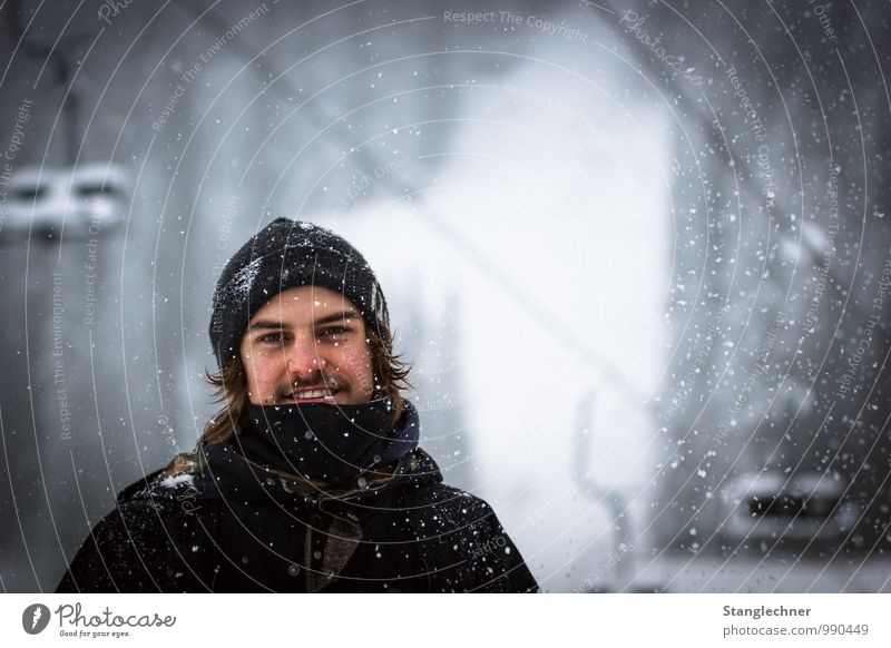 Snowday Lifestyle Gesundheit Tourismus Sport Skier Mensch maskulin Junger Mann Jugendliche Erwachsene 1 18-30 Jahre Natur Landschaft Winter Alpen