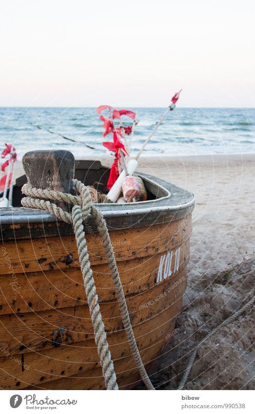 Boot Natur Ferien & Urlaub & Reisen Wasser Sonne Meer Strand Ferne Küste Schwimmen & Baden Sand Horizont Wellen Wind Seil Fisch Ostsee