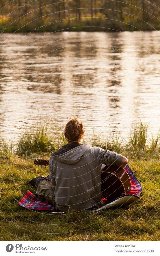 magic carpet Mensch Natur Jugendliche Sommer Erholung Junger Mann 18-30 Jahre Erwachsene Leben Gefühle Glück Freiheit maskulin träumen Idylle Zufriedenheit