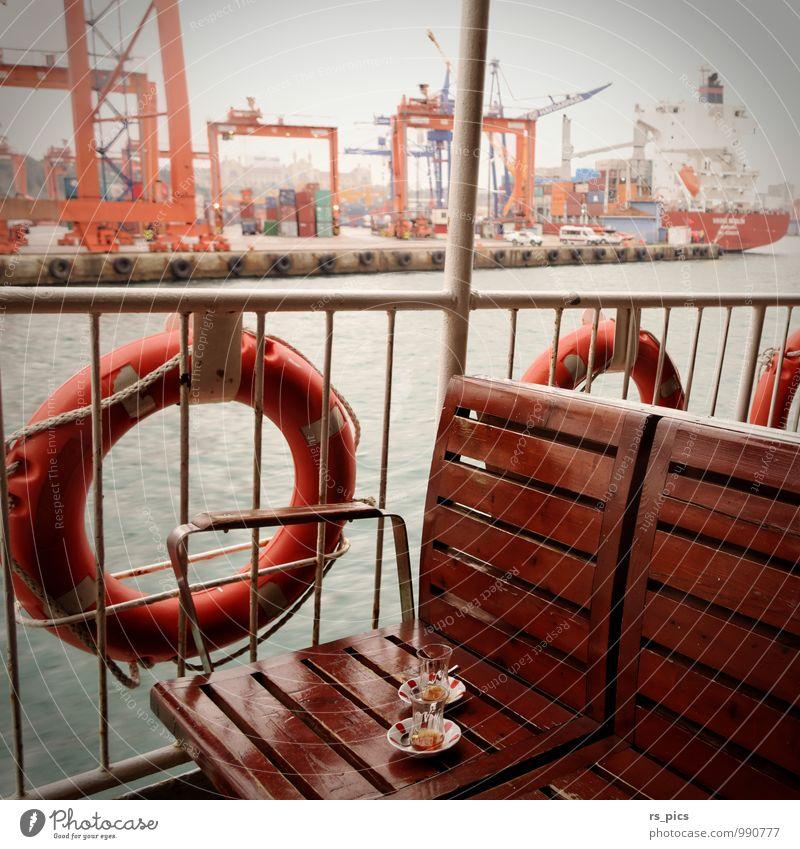 Çay für zwei ... Ferien & Urlaub & Reisen ruhig Stil Stimmung orange authentisch ästhetisch retro Hafen Gelassenheit Tee Sightseeing geduldig Städtereise Fähre