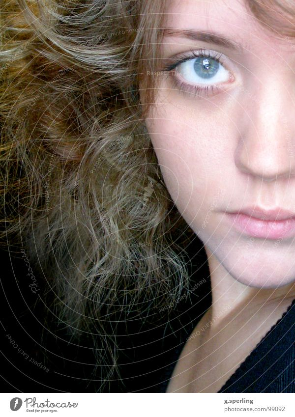 piece I Frau Jugendliche Mädchen Gesicht Auge Teile u. Stücke Hälfte Bruchstück