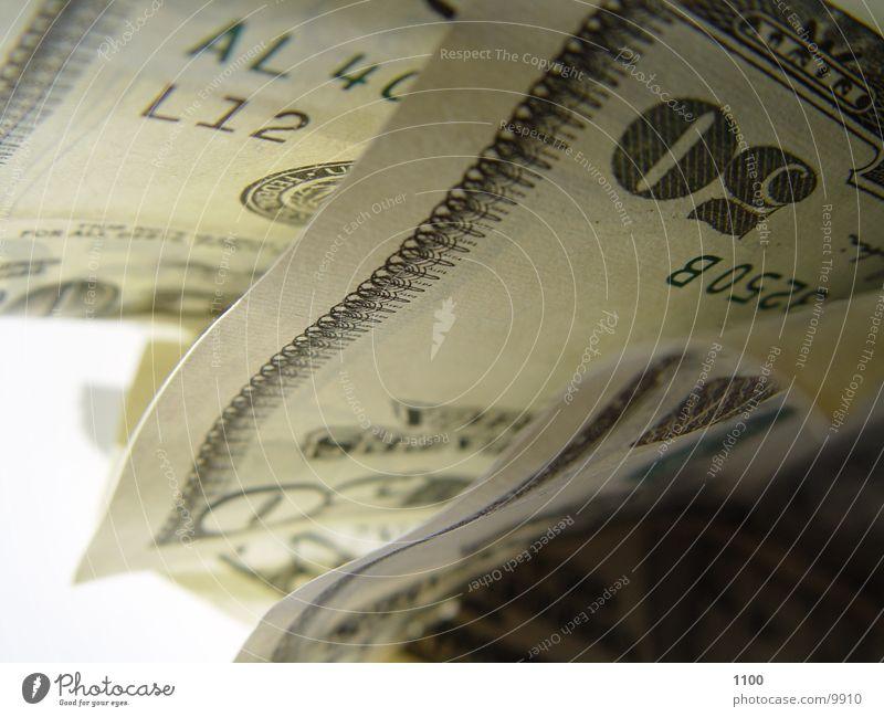 dollars Geld Geldscheine 50 Anschnitt Bildausschnitt Bargeld US-Dollar